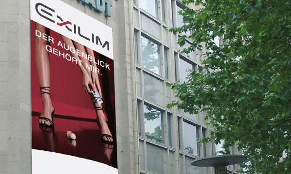 Großformat Banner für Casio Exilim Kameras