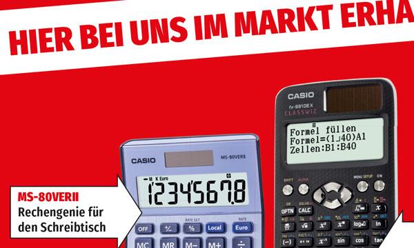 Mediamarkt Plakat im Großformat für Casio Taschenrechner