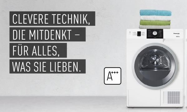 Consequence Großformat Banner für Waschmaschinen von Panasonic