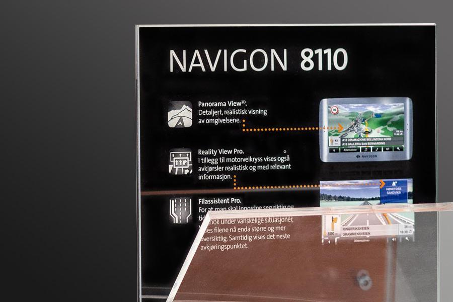 Detailfoto vom Navigon Verkaufsdisplay - Design von Consequence