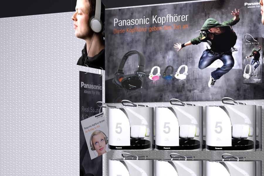 Detailfoto vom Panasonic Verkaufsdisplay - Design von Consequence