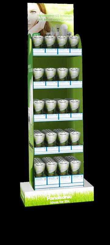 Panasonic Verkaufsdisplay mit Glühlampen