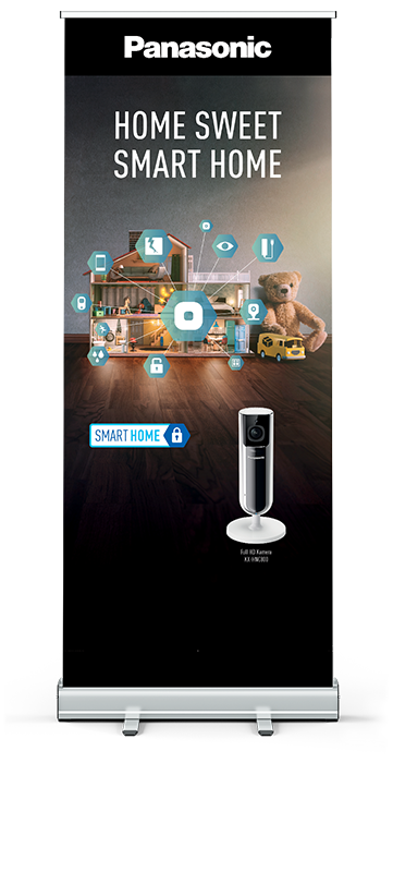 Panasonic Smart Home Rollup Banner von Consequence